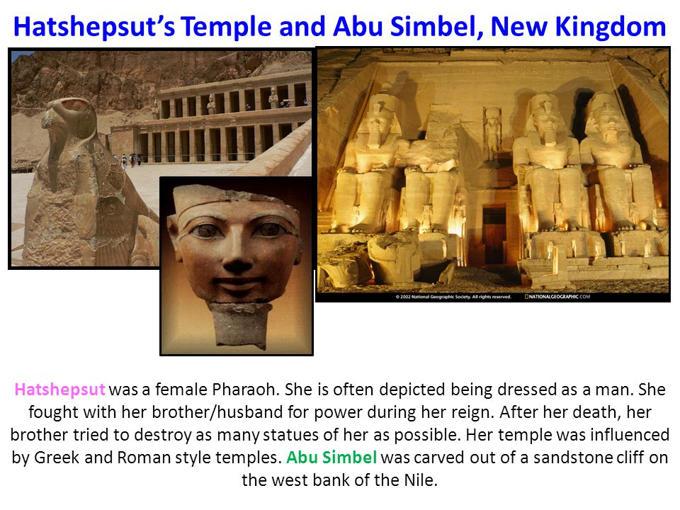 Hatshepsut's Temple and Abu Simbel, New Kingdom