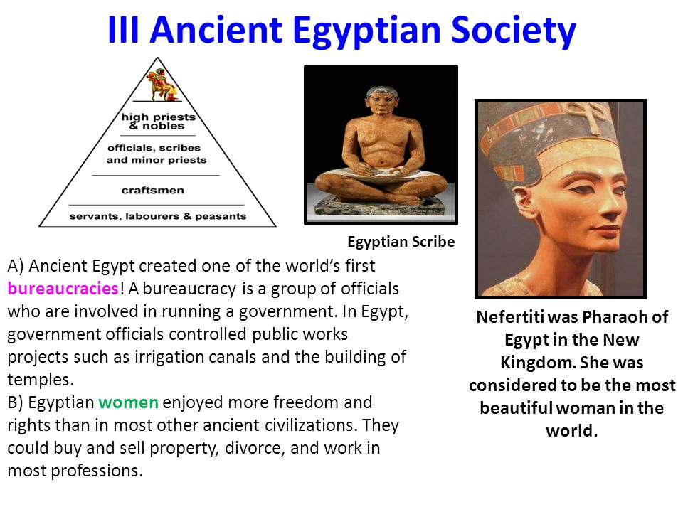 III Ancient Egyptian Society