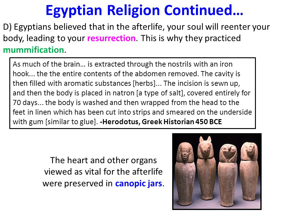 Egyptian Religion Continued…