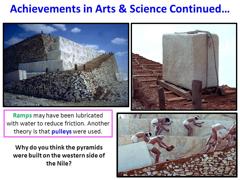 Achievements in Arts & Science Continued…
