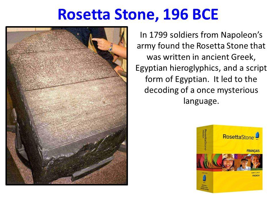 Rosetta Stone, 196 BCE