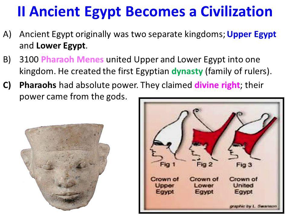 II Ancient Egypt Becomes a Civilization