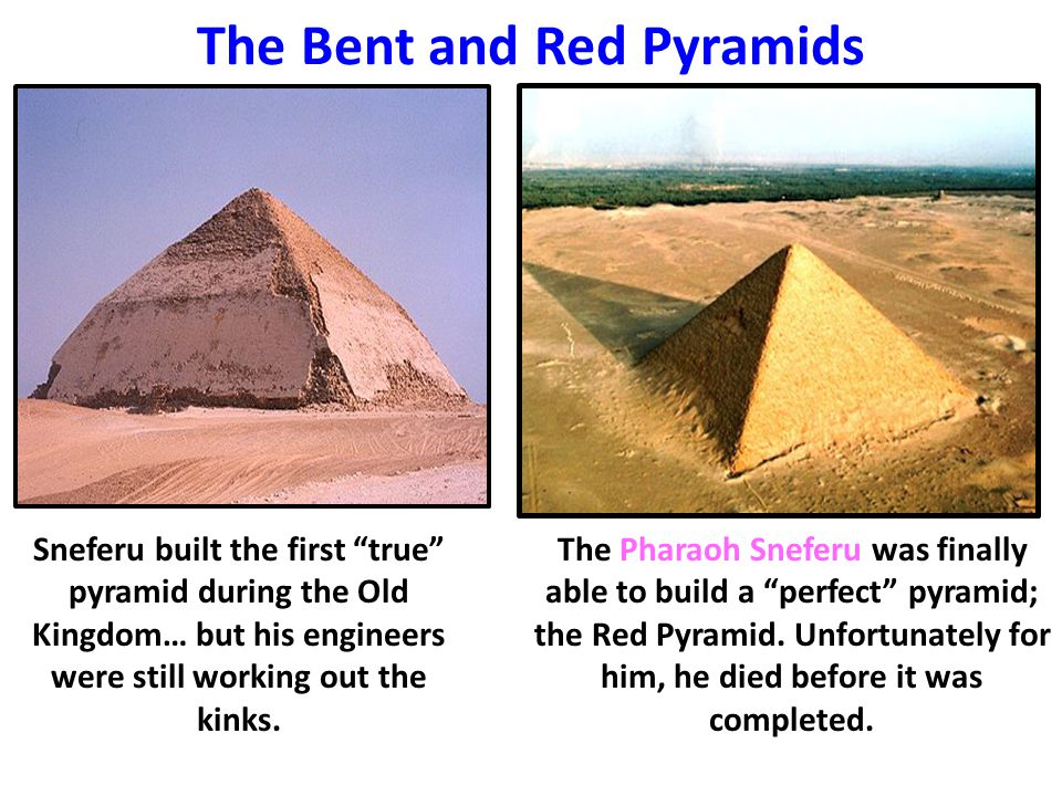 The Bent and Red Pyramids