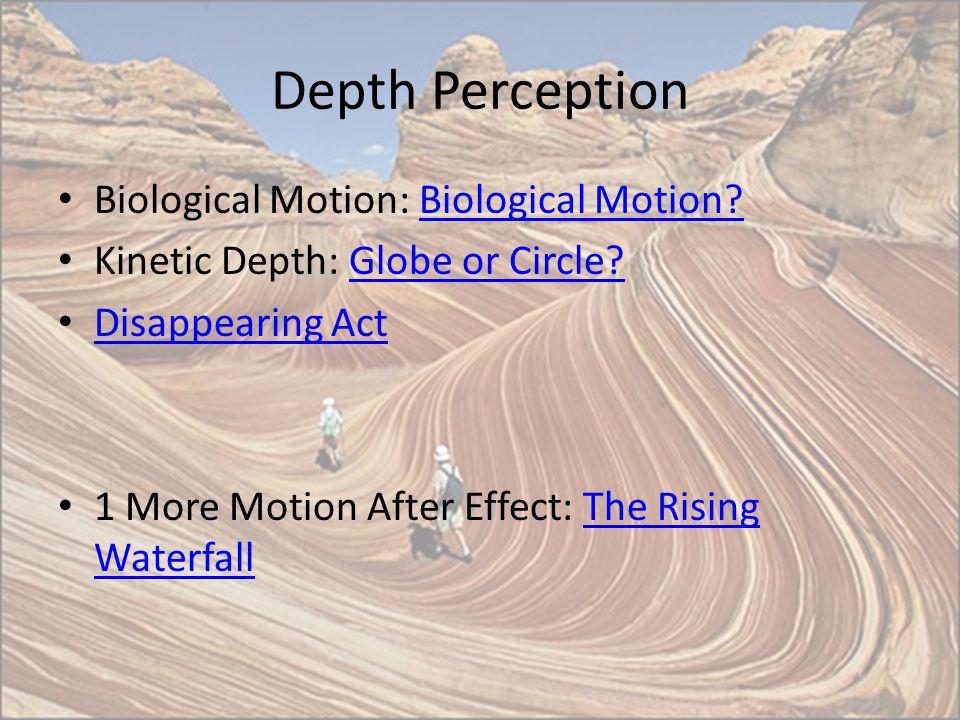 Depth Perception Biological Motion: Biological Motion