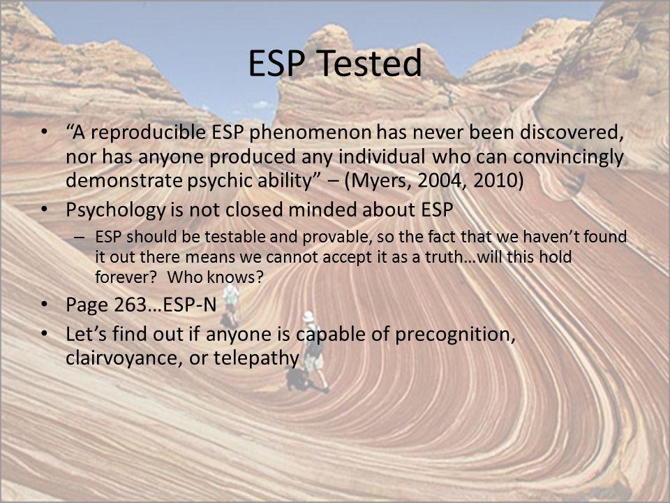 ESP Tested