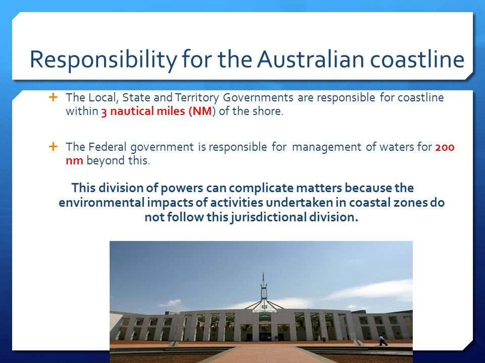Responsibility for the Australian coastline
