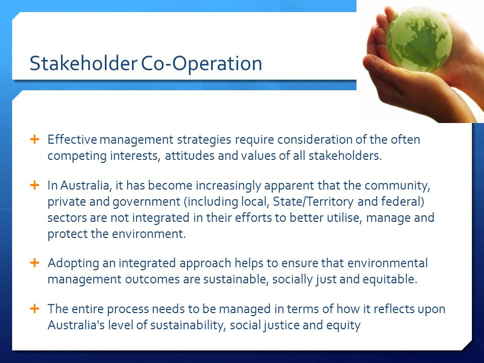 Stakeholder Co-Operation