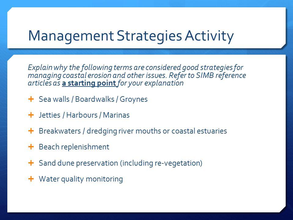 Management Strategies Activity
