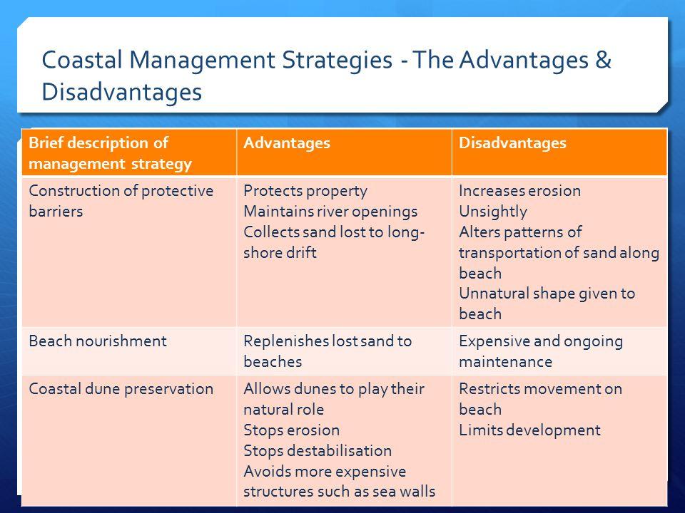 Coastal Management Strategies - The Advantages & Disadvantages