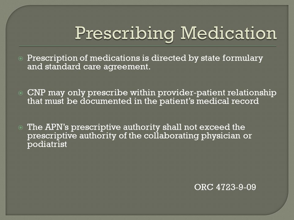 Prescribing Medication
