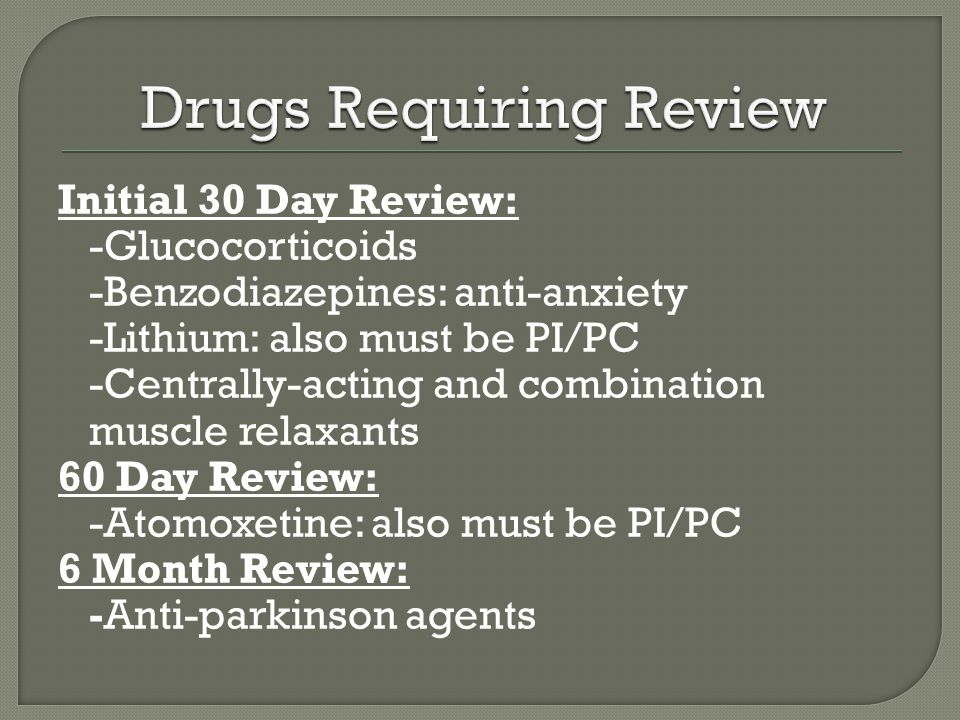 Drugs Requiring Review