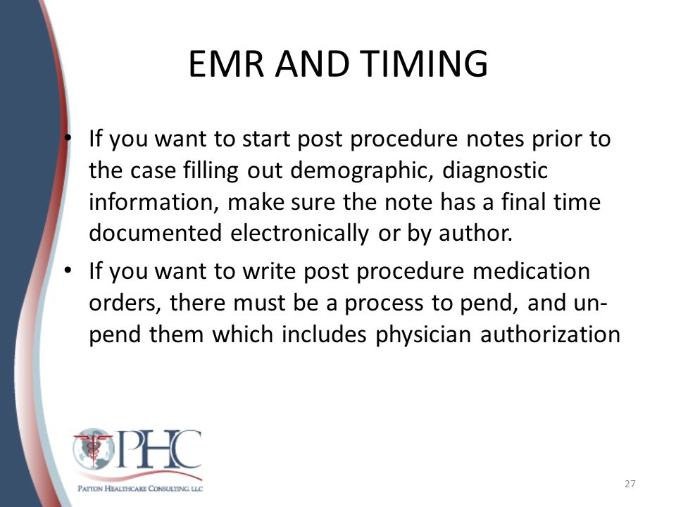EMR AND TIMING