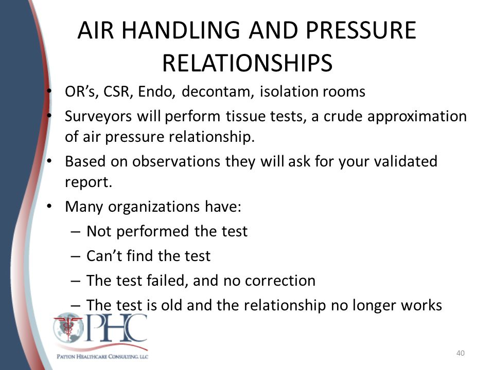 AIR HANDLING AND PRESSURE RELATIONSHIPS