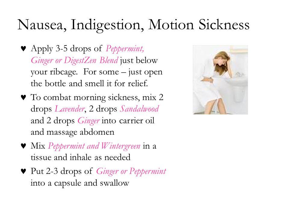 Nausea, Indigestion, Motion Sickness