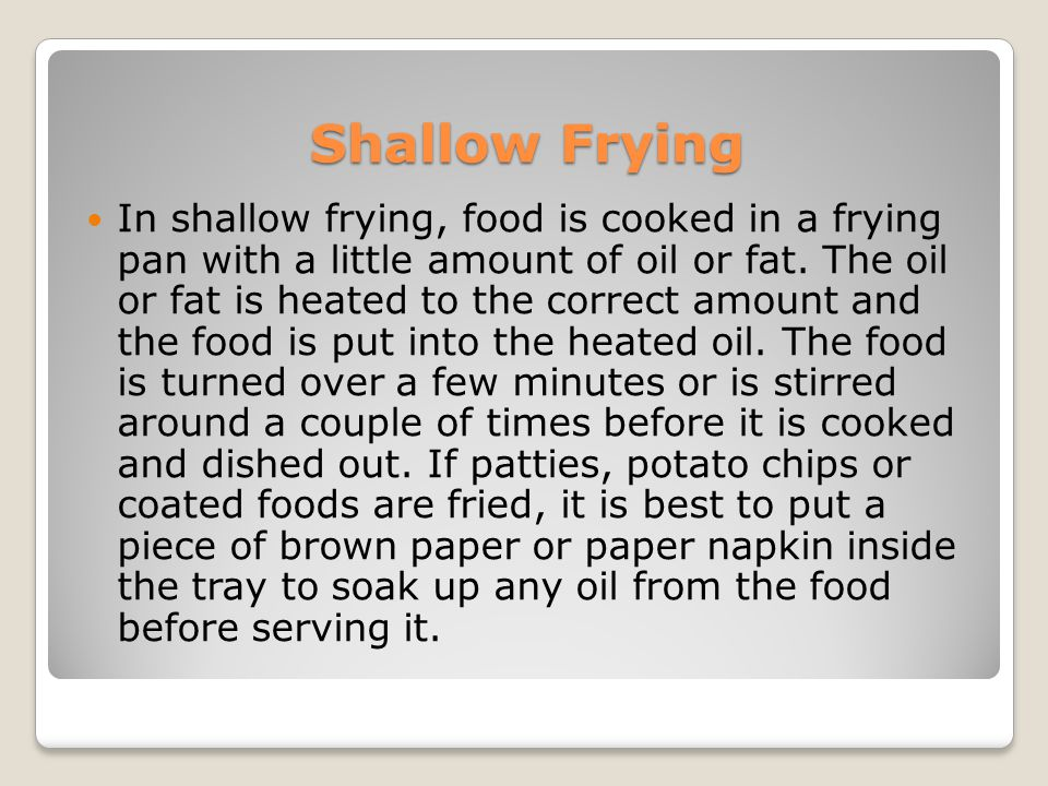 Shallow Frying