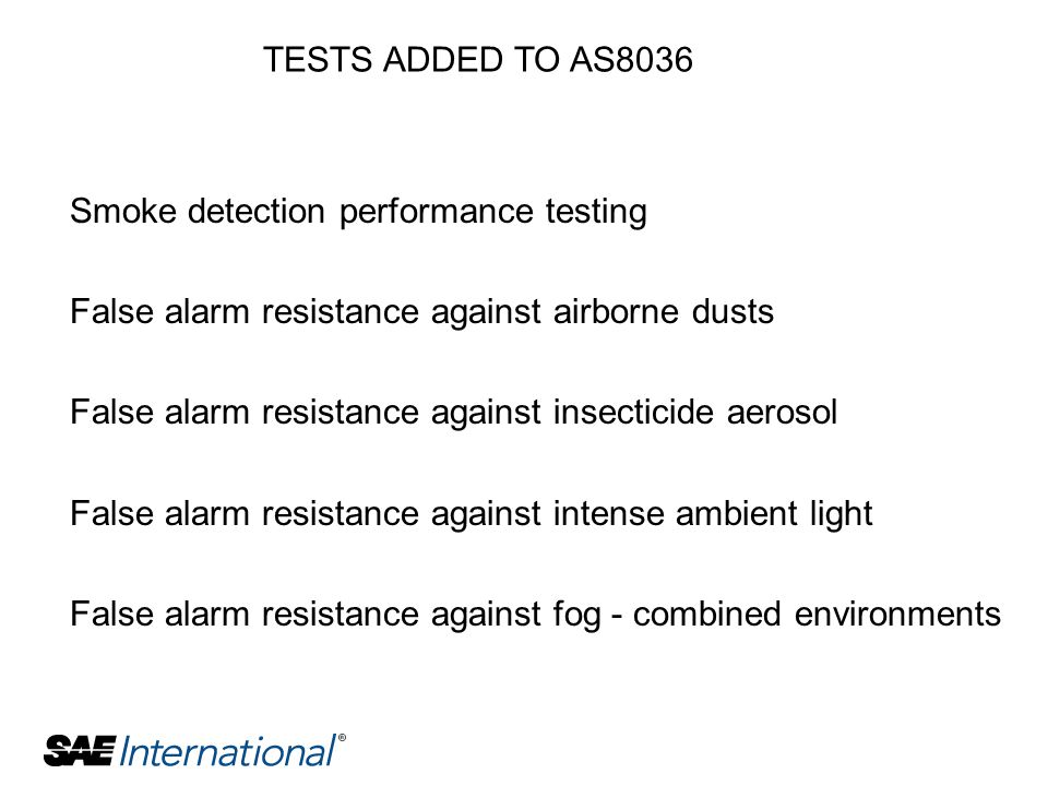 TESTS ADDED TO AS8036