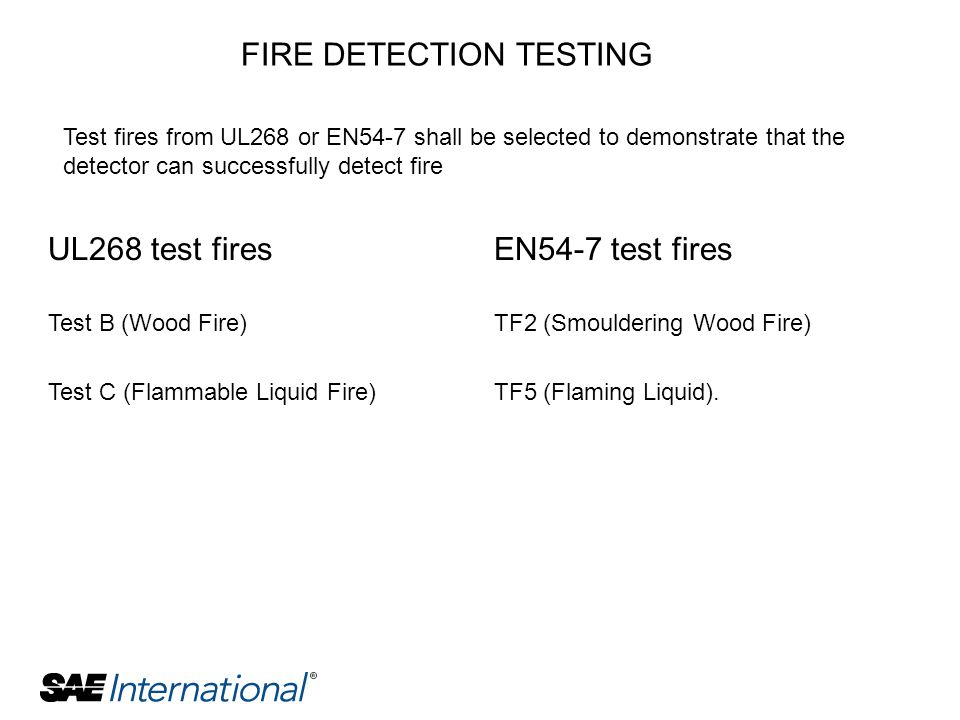 FIRE DETECTION TESTING