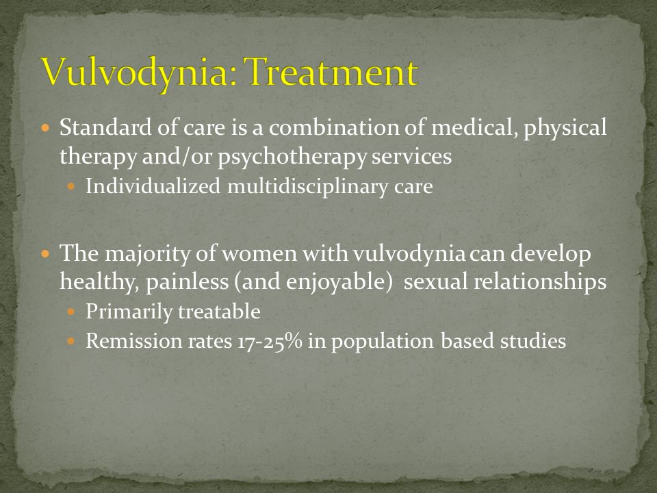 Vulvodynia: Treatment