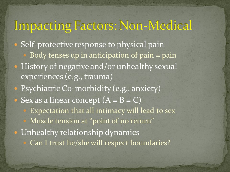 Impacting Factors: Non-Medical