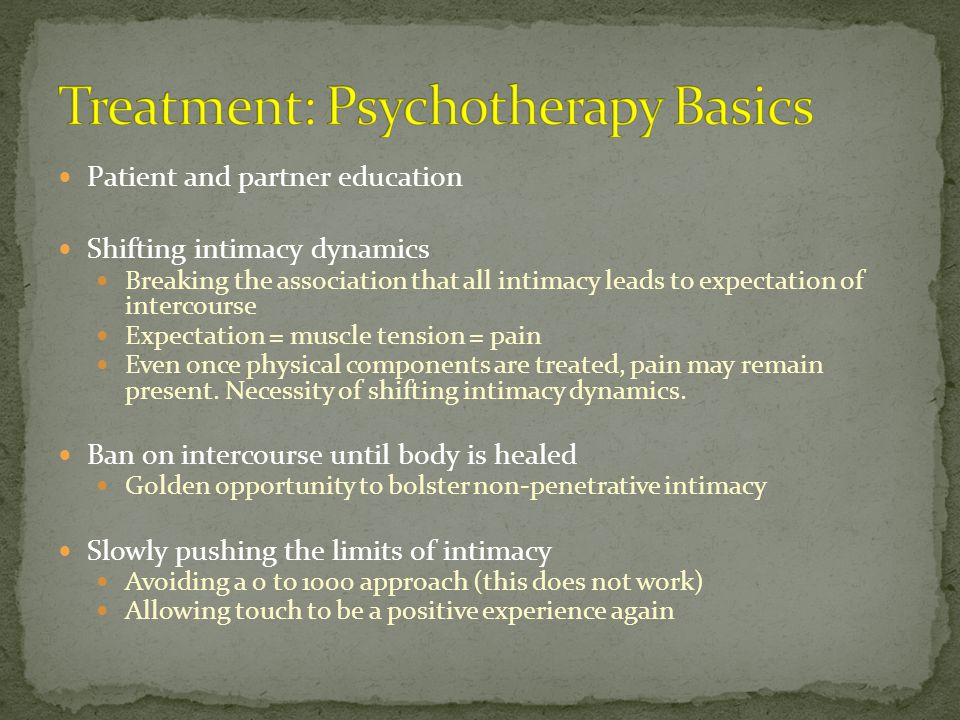 Treatment: Psychotherapy Basics