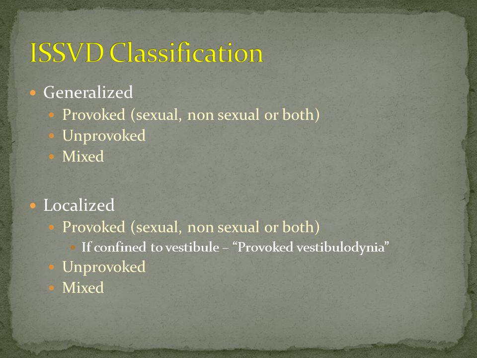 ISSVD Classification Generalized Localized