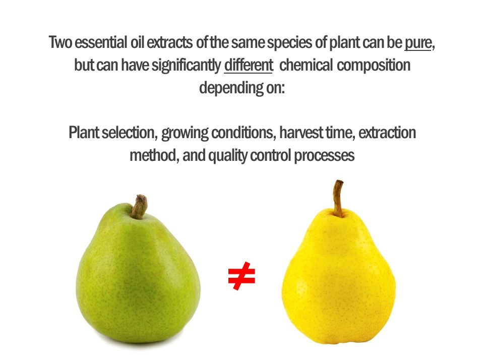 Two essential oil extracts of the same species of plant can be pure, but can have significantly different chemical composition depending on:
