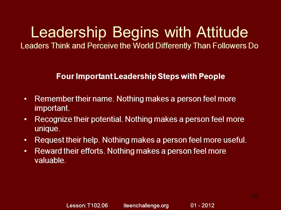 Four Important Leadership Steps with People