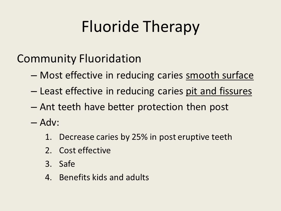 Fluoride Therapy Community Fluoridation