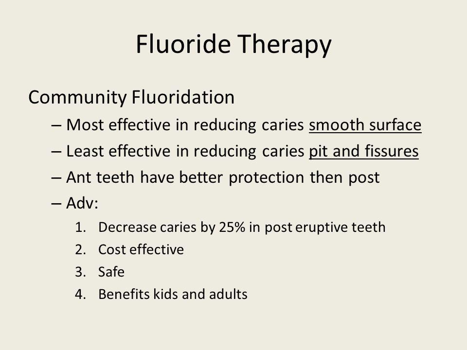 Fluoride Therapy Community Fluoridation