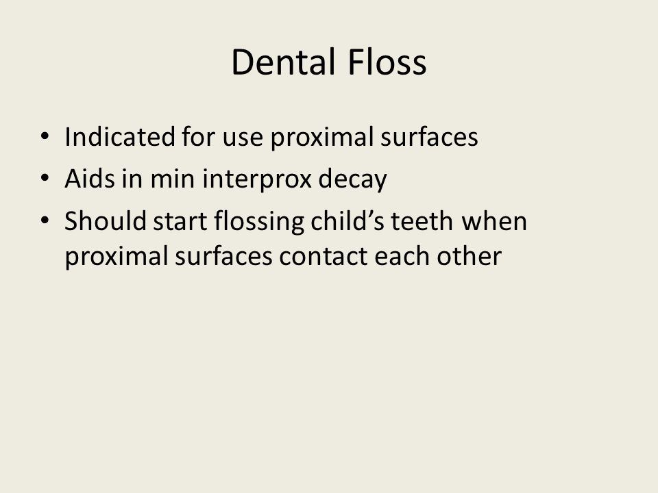 Dental Floss Indicated for use proximal surfaces