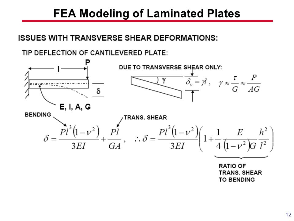 FEA Modeling of Laminated Plates