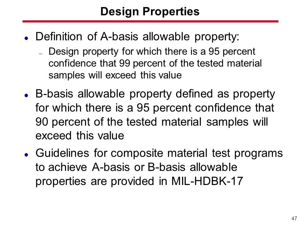 Definition of A-basis allowable property: