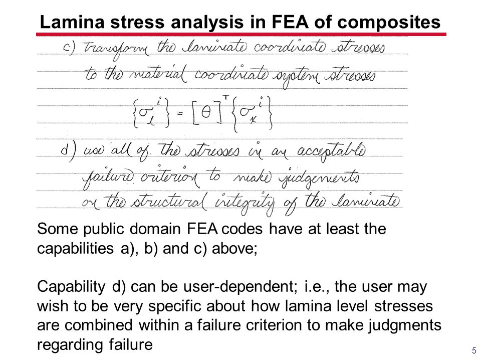 Lamina stress analysis in FEA of composites