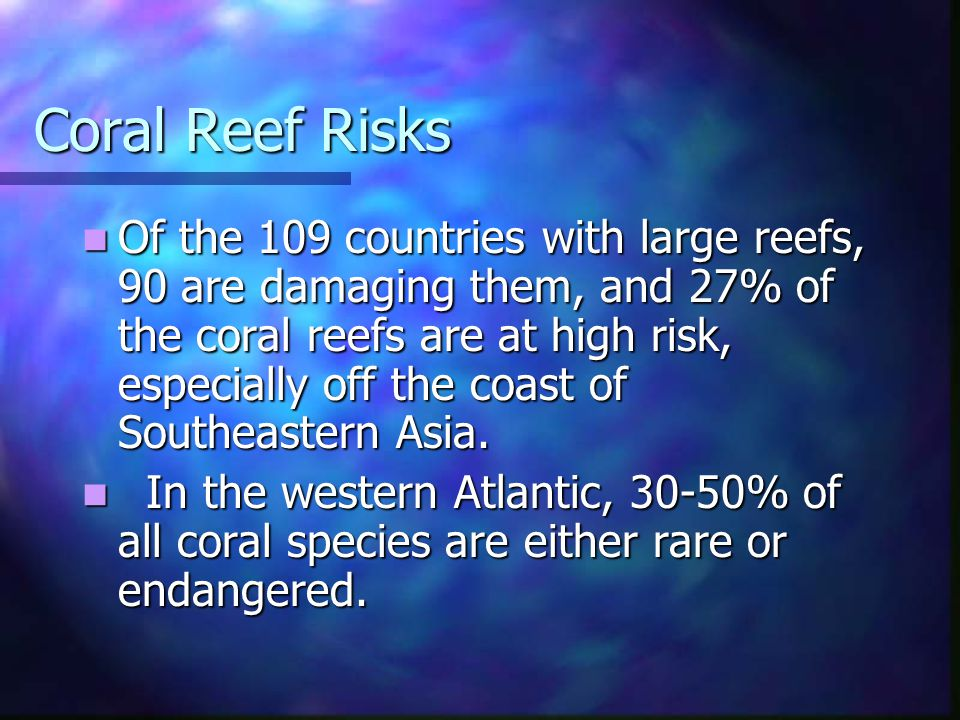 Coral Reef Risks