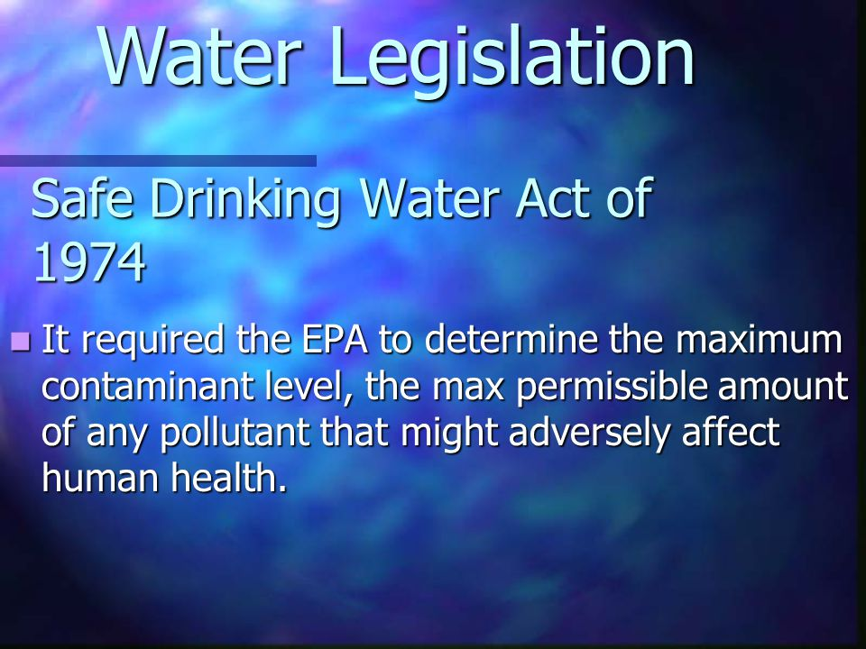 Safe Drinking Water Act of 1974