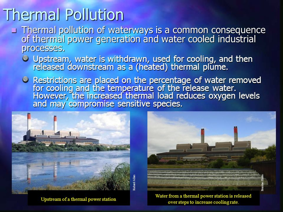 Upstream of a thermal power station