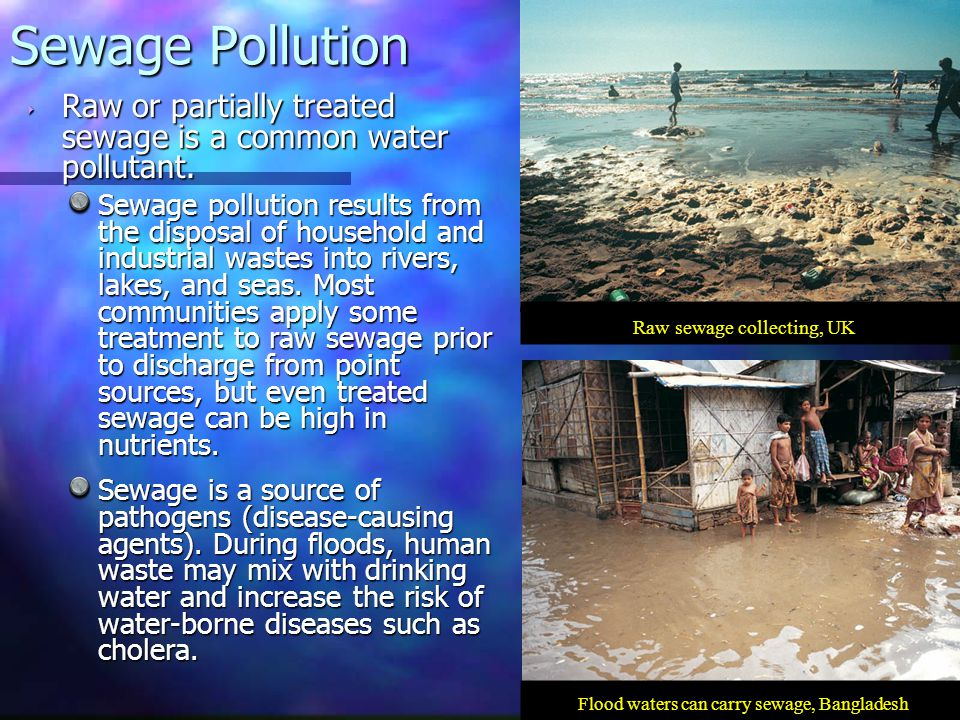 General Types of Water Pollution - ppt download