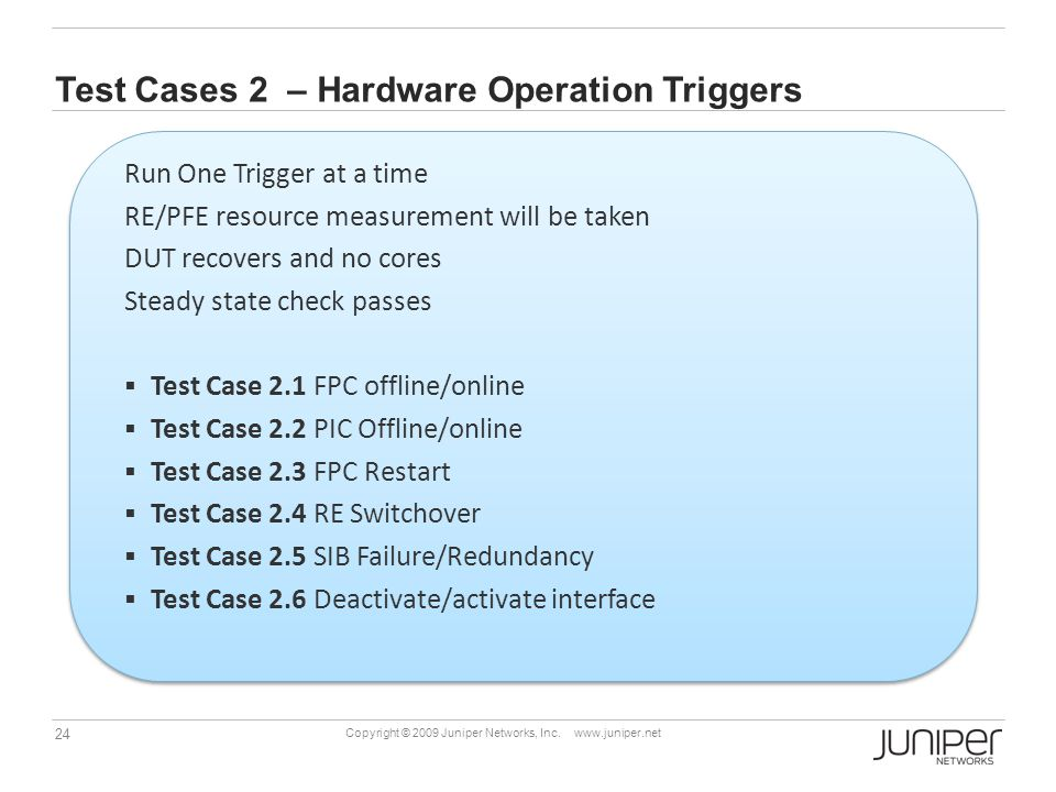 Test Cases 2 – Hardware Operation Triggers