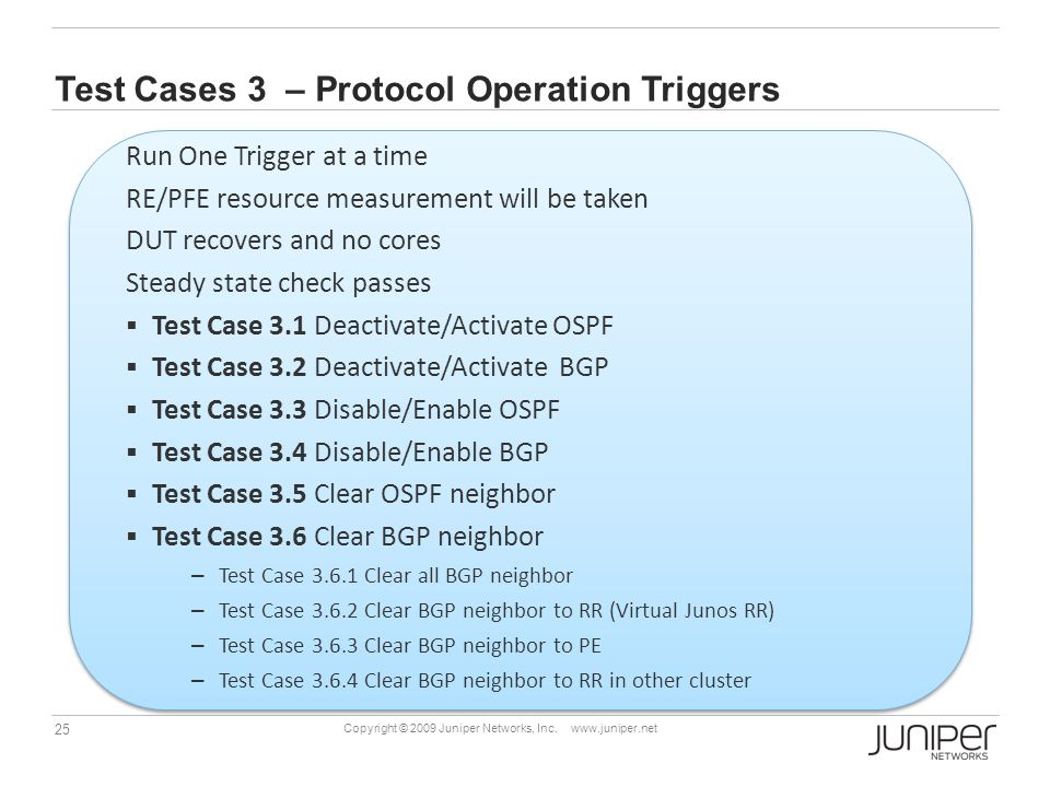 Test Cases 3 – Protocol Operation Triggers