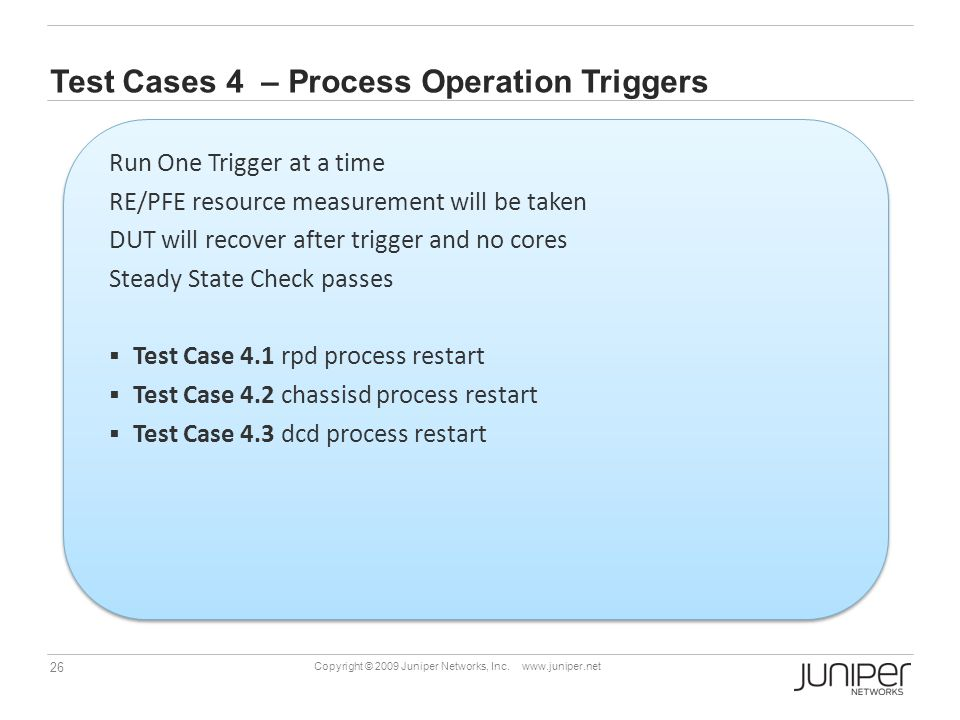 Test Cases 4 – Process Operation Triggers