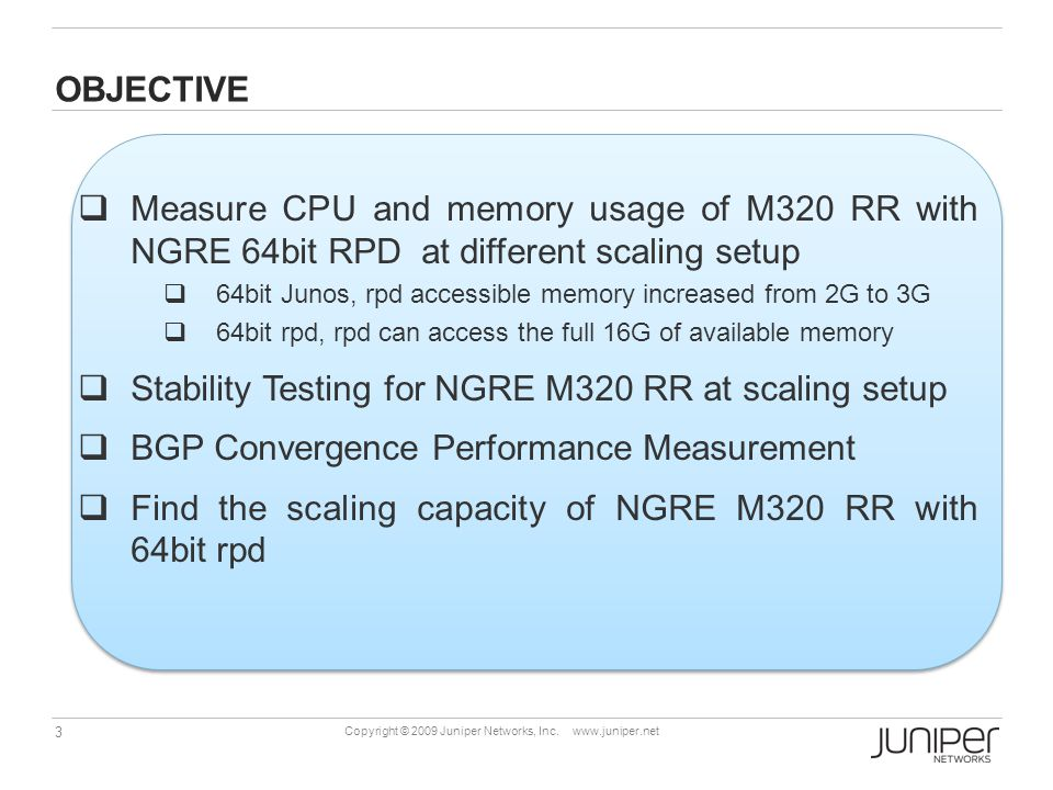 Stability Testing for NGRE M320 RR at scaling setup