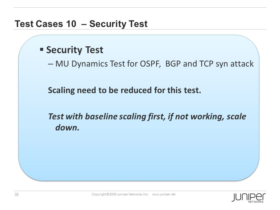 Test Cases 10 – Security Test