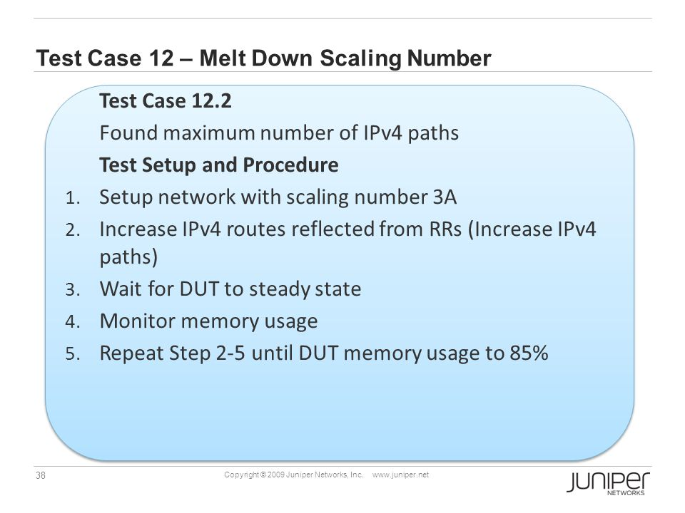 Test Case 12 – Melt Down Scaling Number