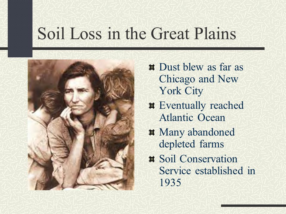 Soil Loss in the Great Plains