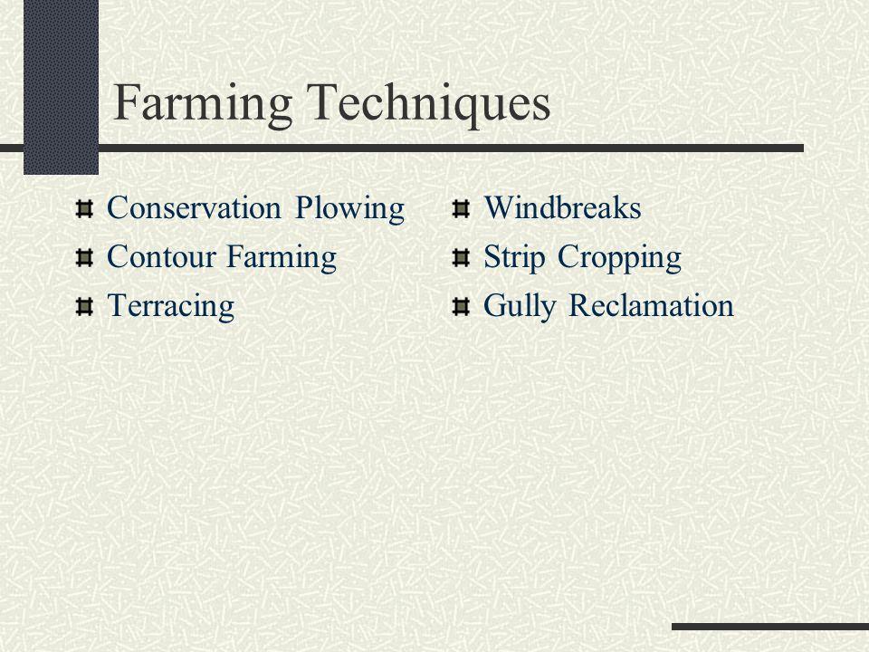 Farming Techniques Conservation Plowing Contour Farming Terracing
