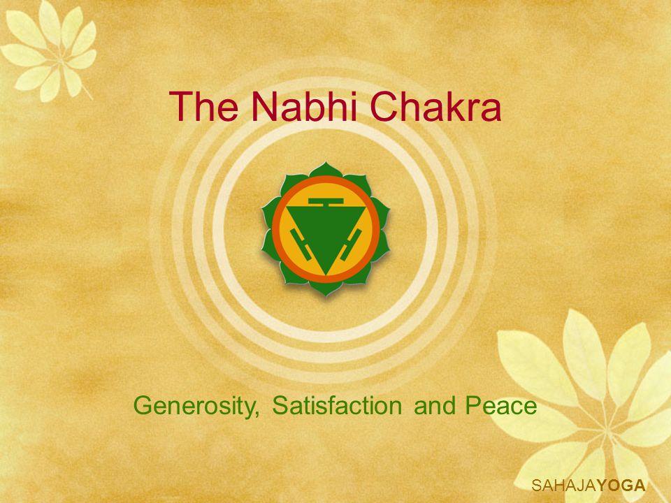 Generosity, Satisfaction and Peace