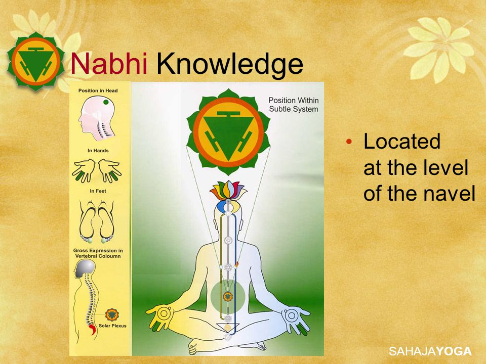Nabhi Knowledge Located at the level of the navel