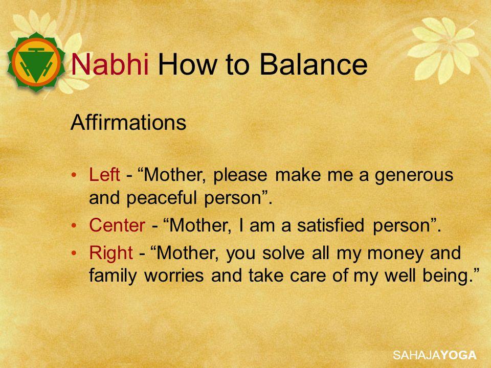 Nabhi How to Balance Affirmations