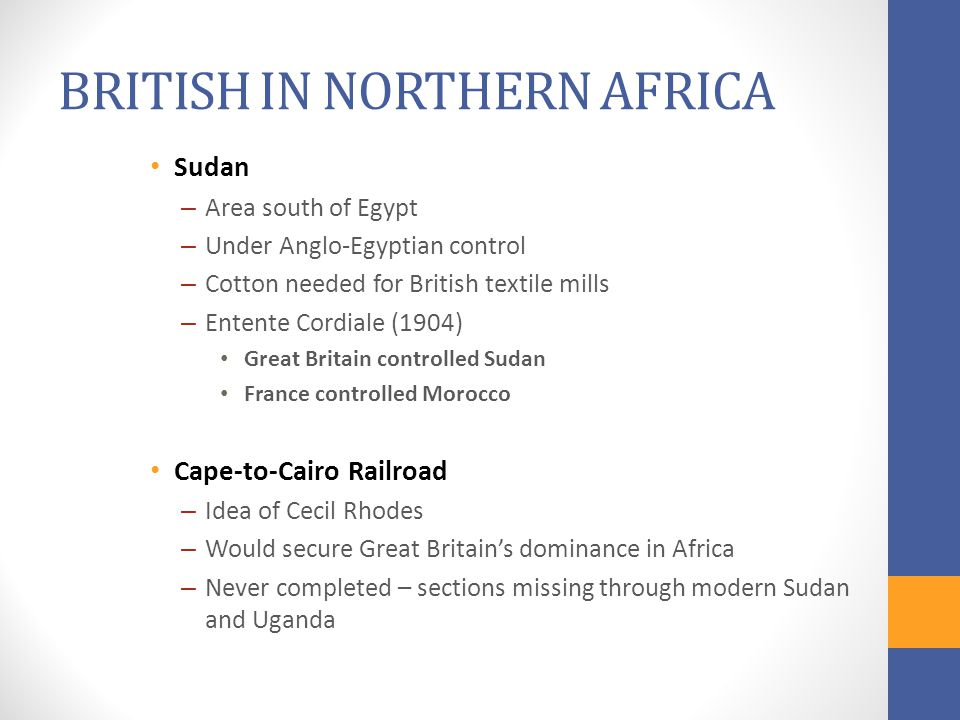 BRITISH IN NORTHERN AFRICA