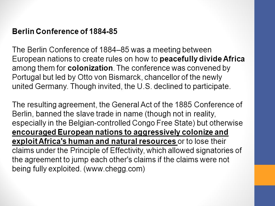Berlin Conference of 1884-85